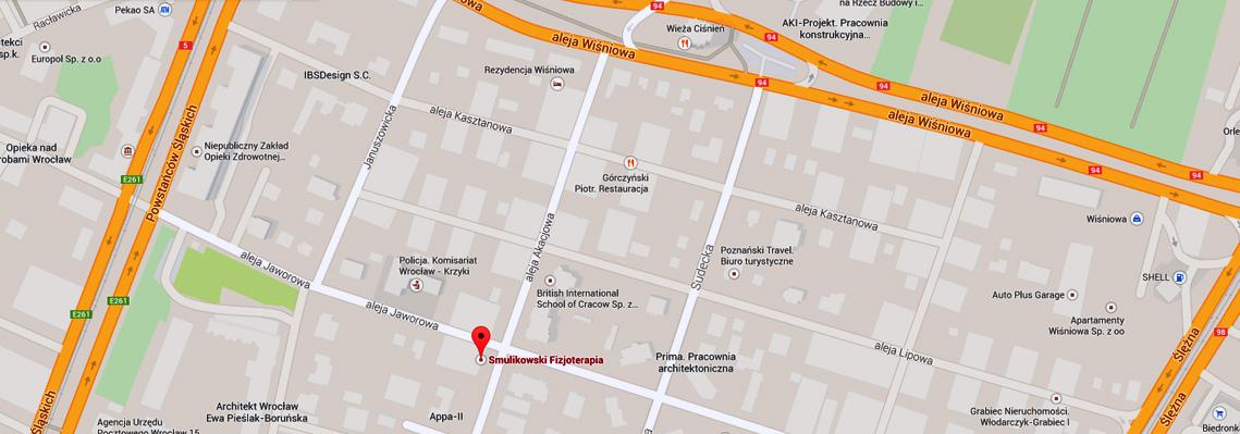 Mapa - Smulikowski Fizjoterapia